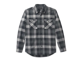 Harley Davidson Buffalo Plaid Shirt für Herren, grau-schwarz