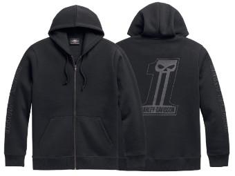 Zip Hoodie No.1 schwarz