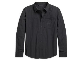 Hemd Woven, schwarz