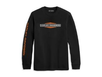 Harley Davidson Langarmshirt Logo, schwarz