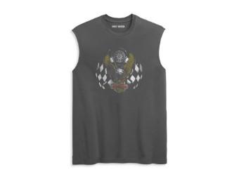 Shirt, Race Eagle, ärmellos, grau