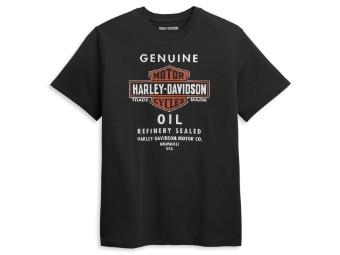 T-Shirt Genuine Oil schwarz