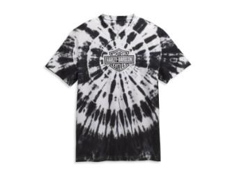 Harley Davidson Männer T-Shirt Tie Dye Black