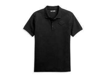 Polo Hemd schwarz