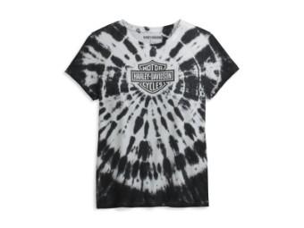 Harley Davidson Damen T-Shirt Tie Dye Black