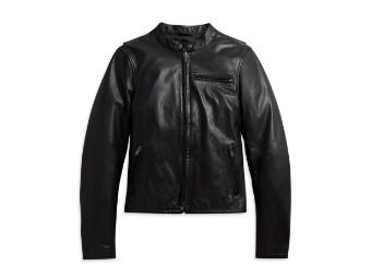 Harley Davidson Damen Lederjacke, schwarz