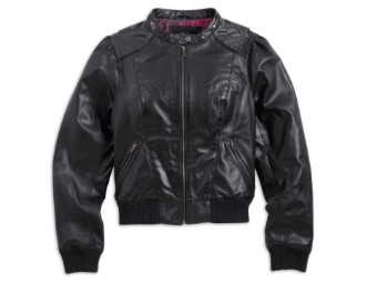 "Harley Davidson Damen Lederjacke ""BLACK LABEL BOMBER"""
