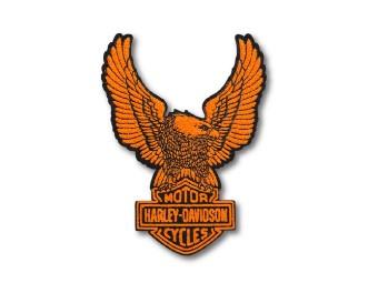 Harley Davidson Aufnäher Upwing Eagle, orange