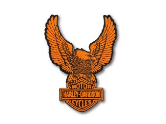 Harley Davidson Aufnäher Upwing Eagle, orange