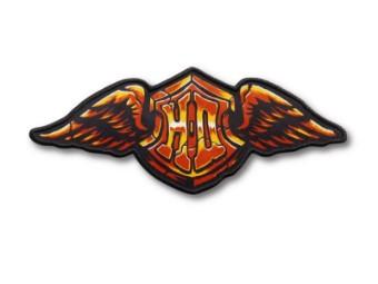 Harley Davidson, Steinflügel-Eisen-Aufnäher, Patch