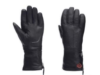 Harley-Davidson® Women Leather Touchscreen Tech Gauntlet Riding Gloves