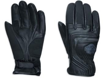 Motorrad Herren Handschuhe aus Ziegenleder Bar & Shield EC