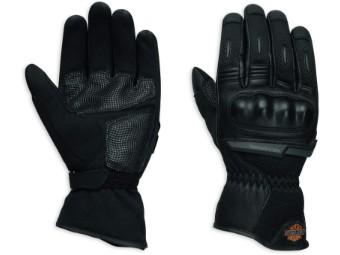 Motorrad Leder Handschuhe B&S Logo Mesh