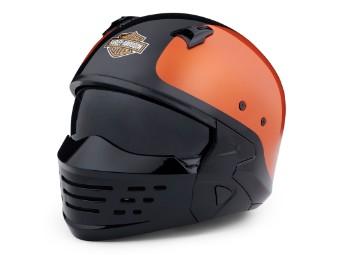 Sport Glide X07 2in1 Helm Schwarz Orange