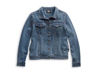 Damen Jeansjacke, Bar & Shield, blau