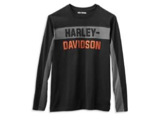 Harley Davidson Herren Copperblock Block Letter Langarmshirt