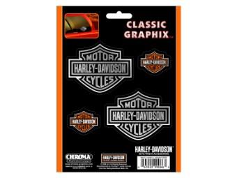 Harley Davidson Bar & Shield Aufkleber, klein & groß