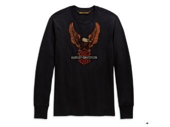 Longsleeve Vintage Eagle schwarz, regular Fit