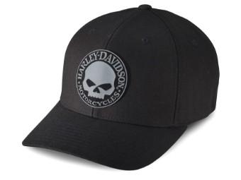 Baseball Cap Rubber Skull schwarz