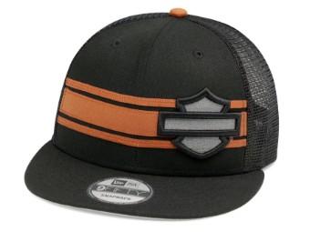 Baseball Cap Stripe & Logo 9FIFTY® schwarz & orange