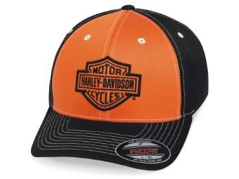 Cap Colorblock orange/schwarz