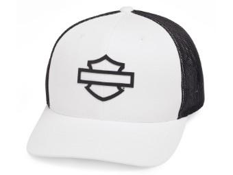 Trucker Cap Bar & Shield Weiß