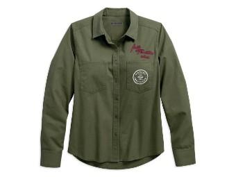 Women's Full Throttle Canvas Long Sleeve Shirt