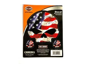 Harley Davidson American Skull Sticker