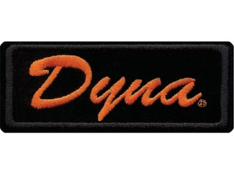 4 Zoll besticktes Dyna-Emblem zum Aufnähen - Schwarz/Orange