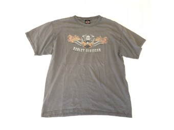 Original Vintage Shirt, V-Twin in Flames