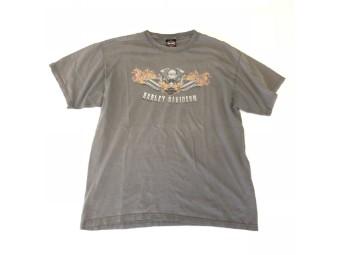Original Vintage Shirt, V-Twin in Flames