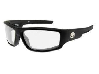 Baffle Sonnenbrille, klare Gläser & mattschwarzen Rahmen