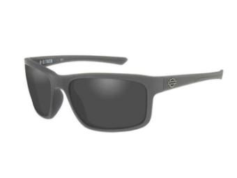 Twin-Sonnenbrille, rauchgraue Gläser & mattgrauem Rahmen