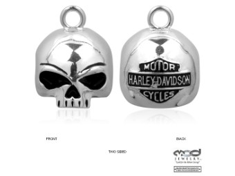 Round Willie G® Skull Ride Bell - HRB020