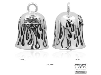 Silver Flames Bar & Shield Ride Bell - HRB031