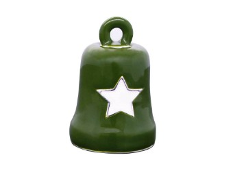 Green & White Star Military Tribute Ride Bell - HRB076