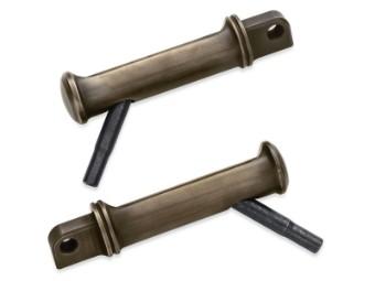 Brass Fußraste mittig mit gestyltem Ersatzverschleißstück