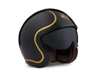 Helm M06 Boogie 3/4 schwarz & gold