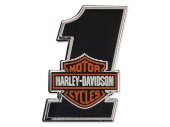 Harley Davidson Pin, No.1 mit Bar & Shield