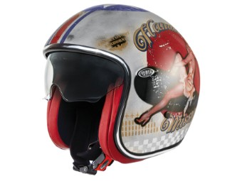 Motorrad Helm Vintage Pin Up Old Style