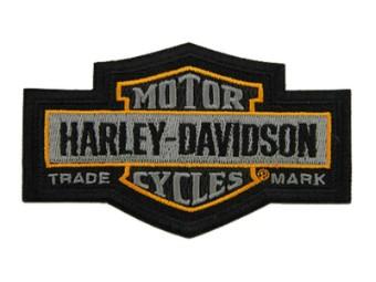 4.5 in. Gesticktes Markenzeichen Bar & Shield Emblem Patch - Grau