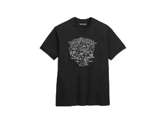 Low Rider T-Shirt, schwarz