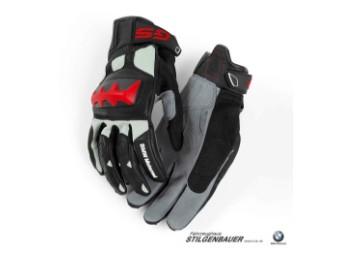 Handschuh Rallye, schwarz/rot