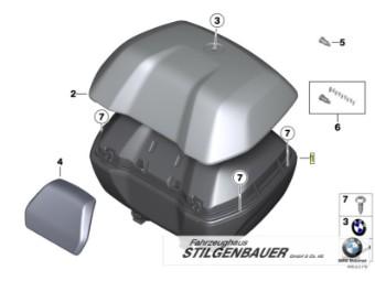 Rückenpolster für Topcase 49L