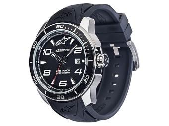 Tech Watch 3H Black Silicon Strap