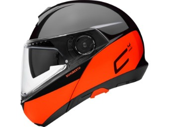 C4 Pro Swipe Orange Klapphelm