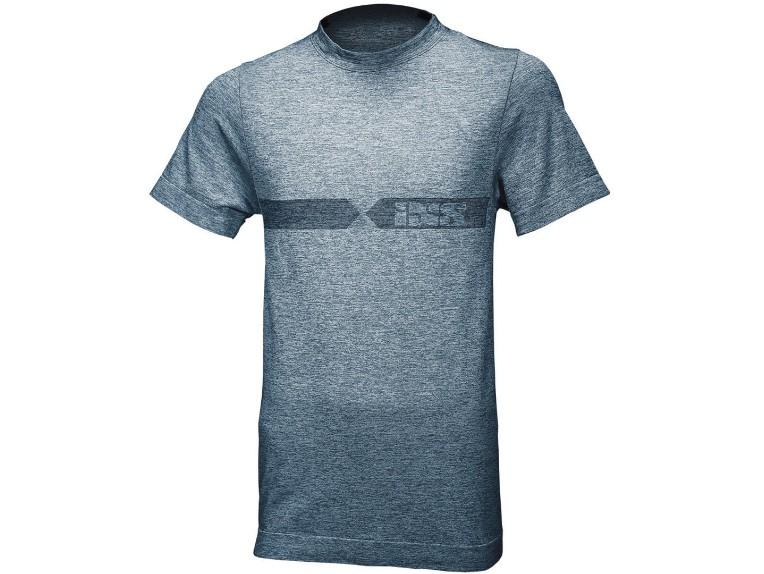 IXS shirt melange blau