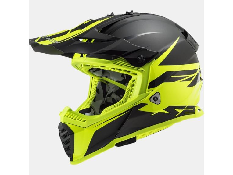 ls2 mx437 fast evo roar yellow