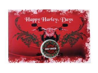 Happy Harley Days Holiday Card & Pin Set