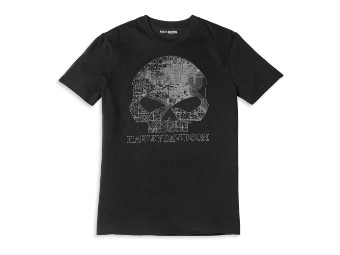 T-Shirt Milwaukee Map Skull